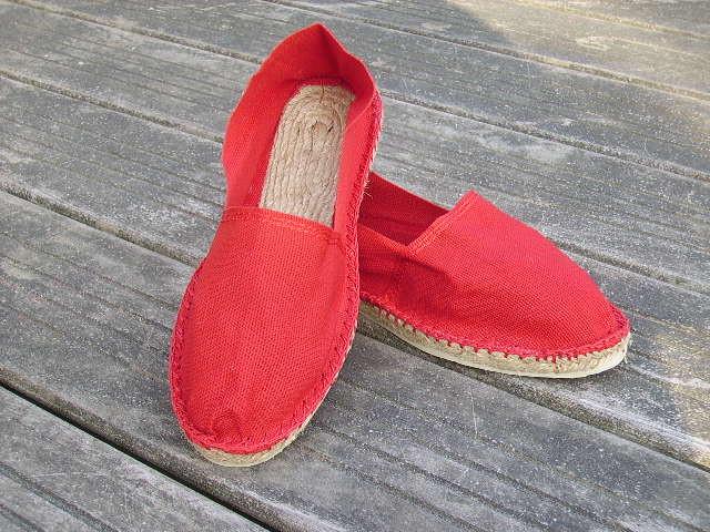 Espadrilles basques rouges taille 44