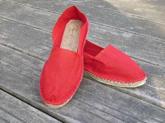 Espadrilles basques rouges taille 43