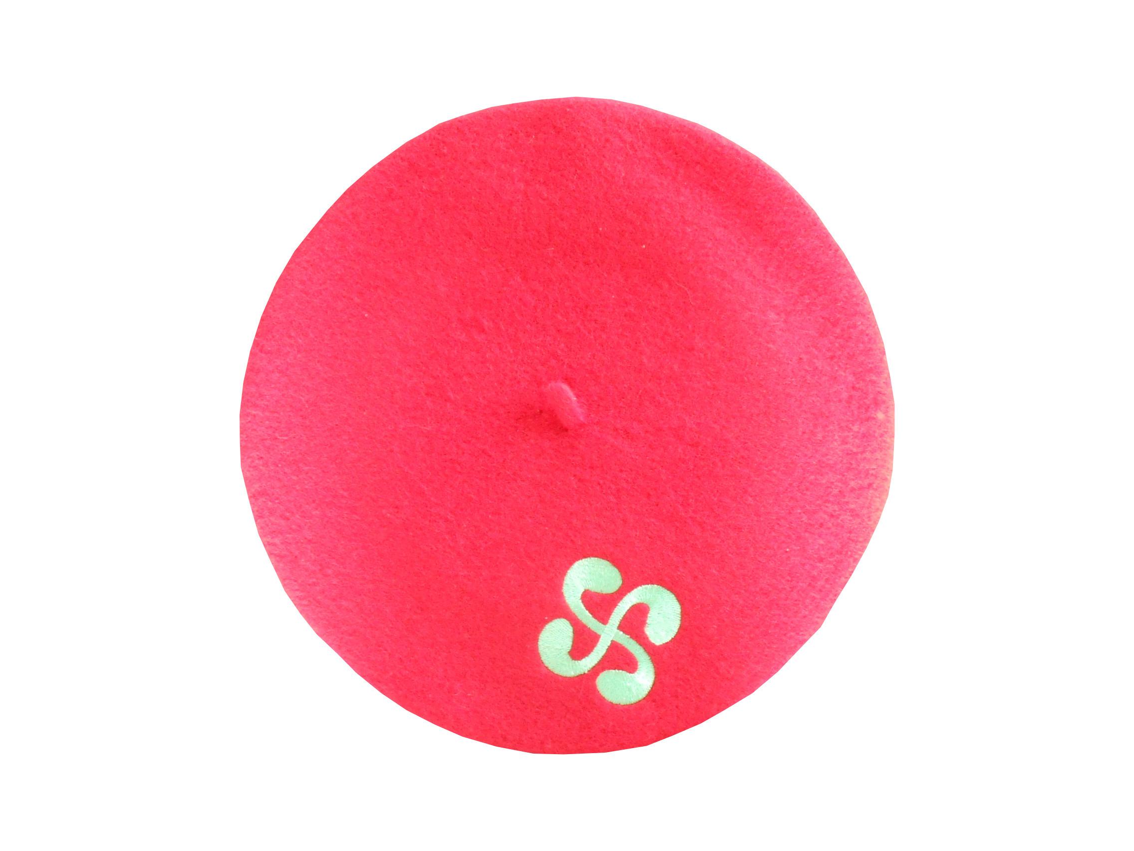 Béret rouge avec la croix basque pour adulte à 5.90 €