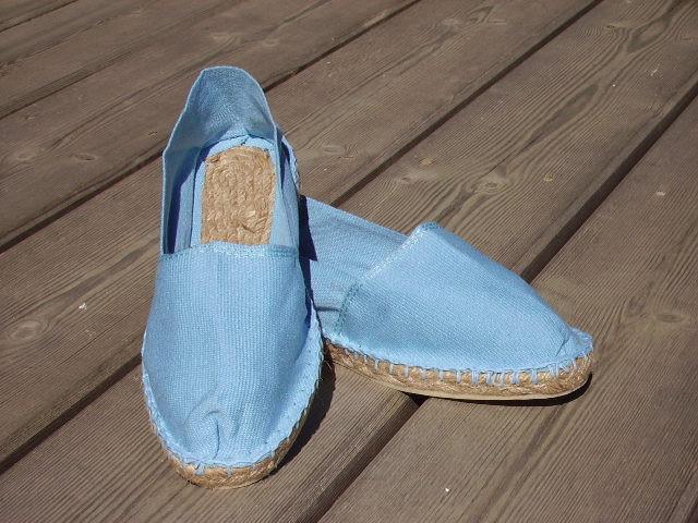 Espadrilles basques bleu ciel taille 46