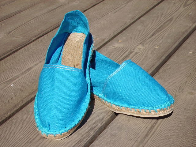 Espadrilles basques turquoise taille 44