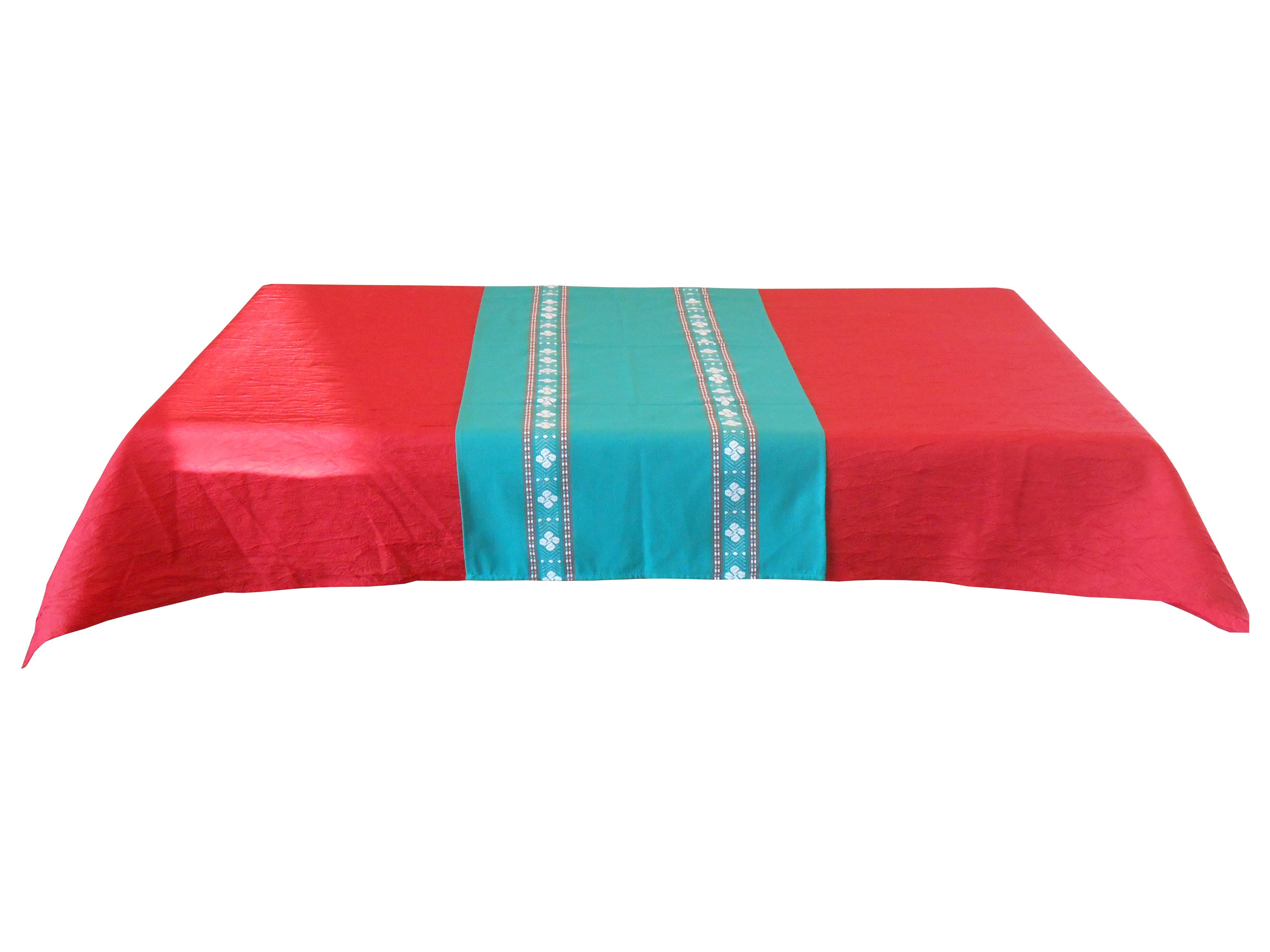 Jeté de table vert 55 x 150 cm