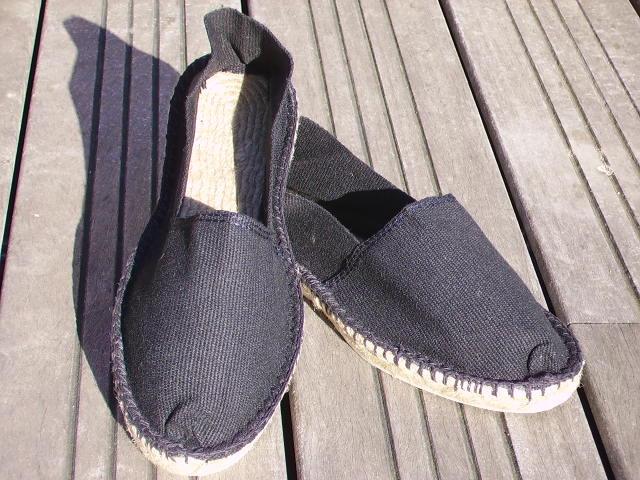 Espadrilles basques noires taille 44