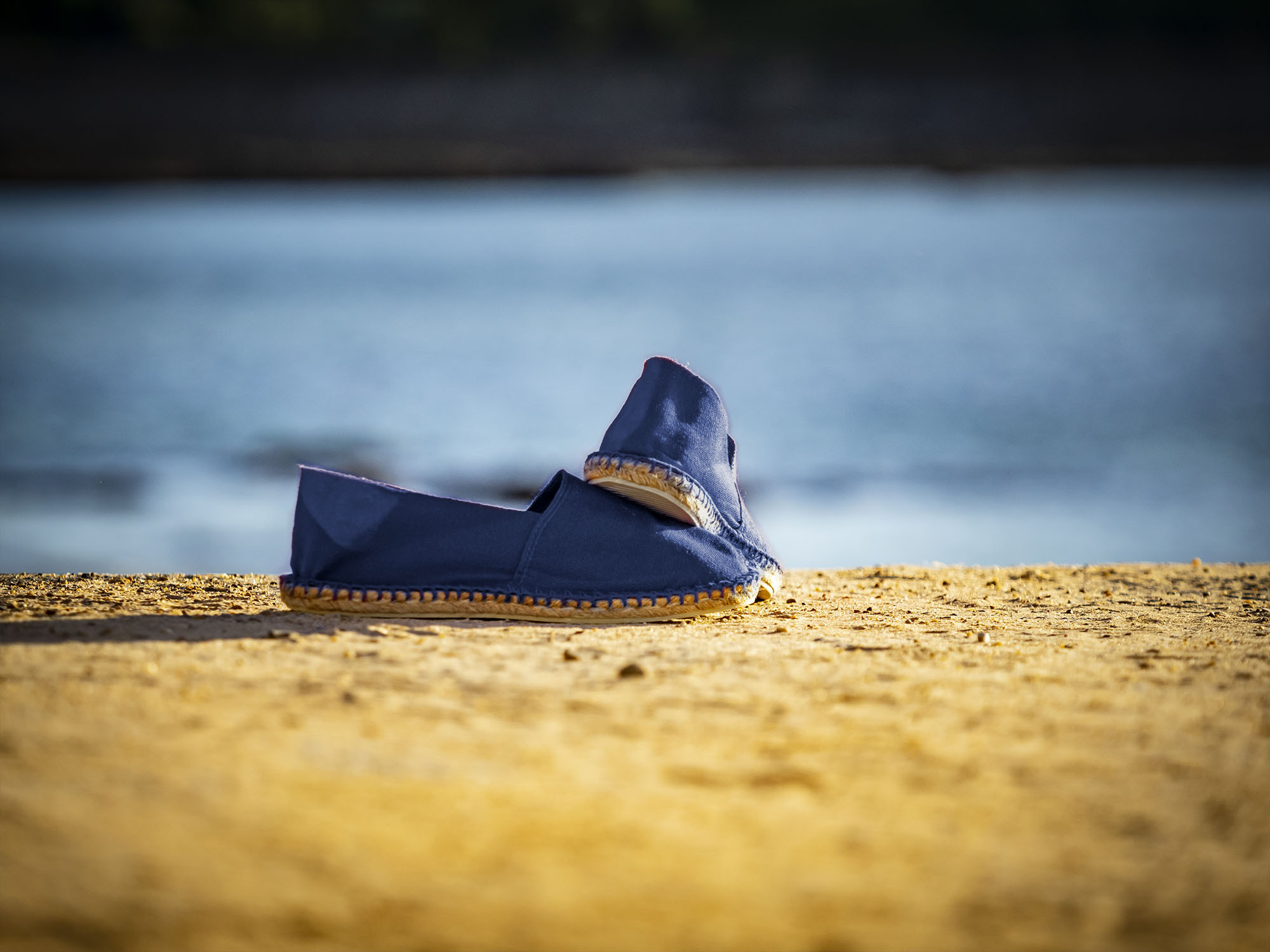 Espadrilles basques marines