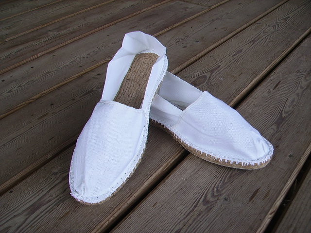 Espadrilles basques blanches taille 46