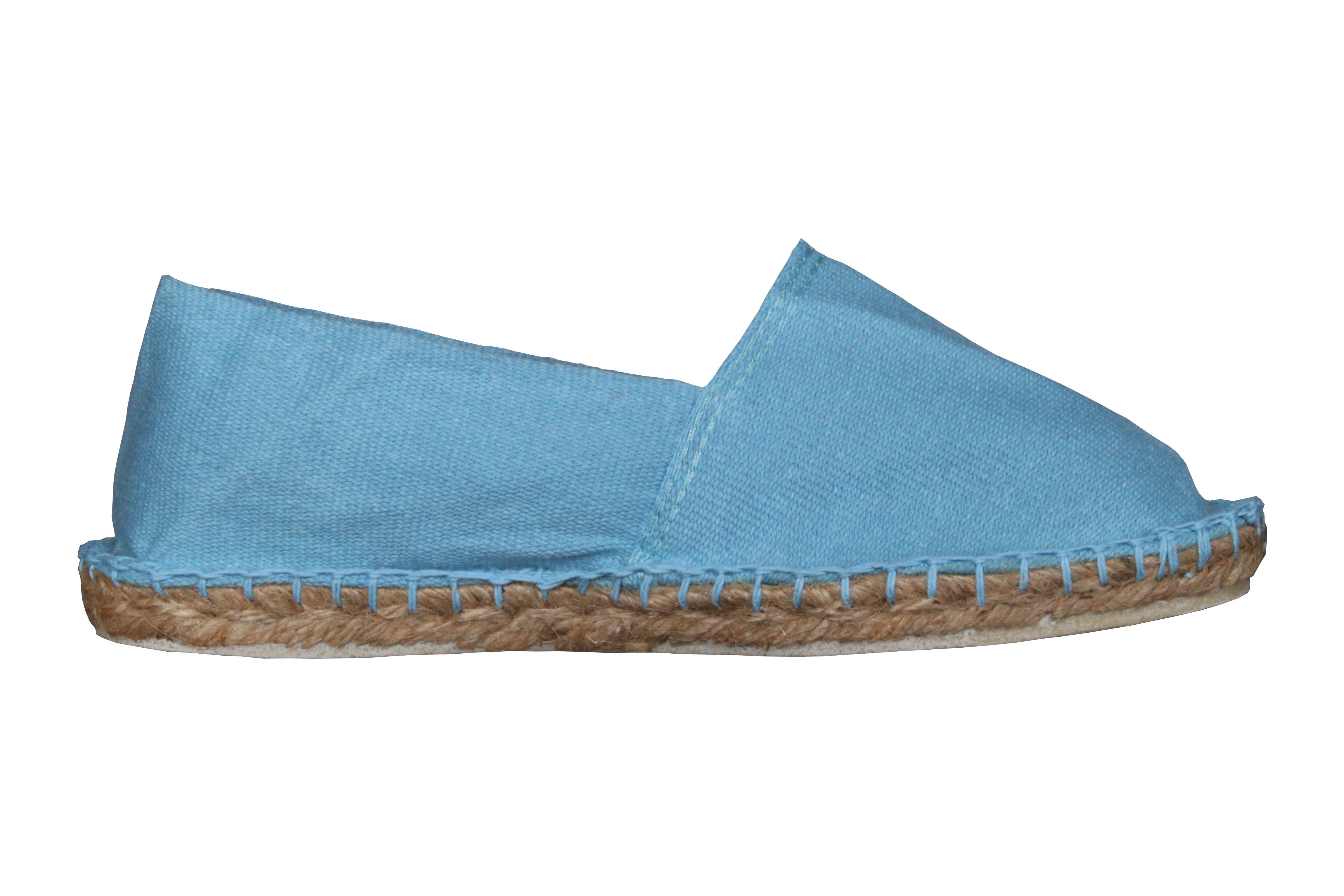 Espadrilles basques bleu ciel