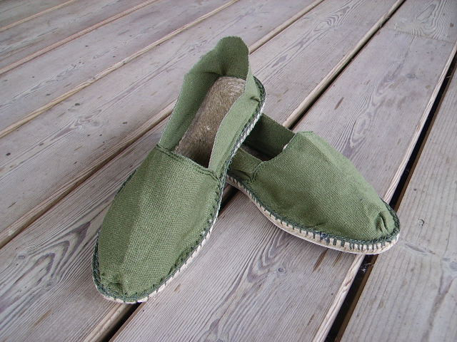 Espadrilles olive taille 47