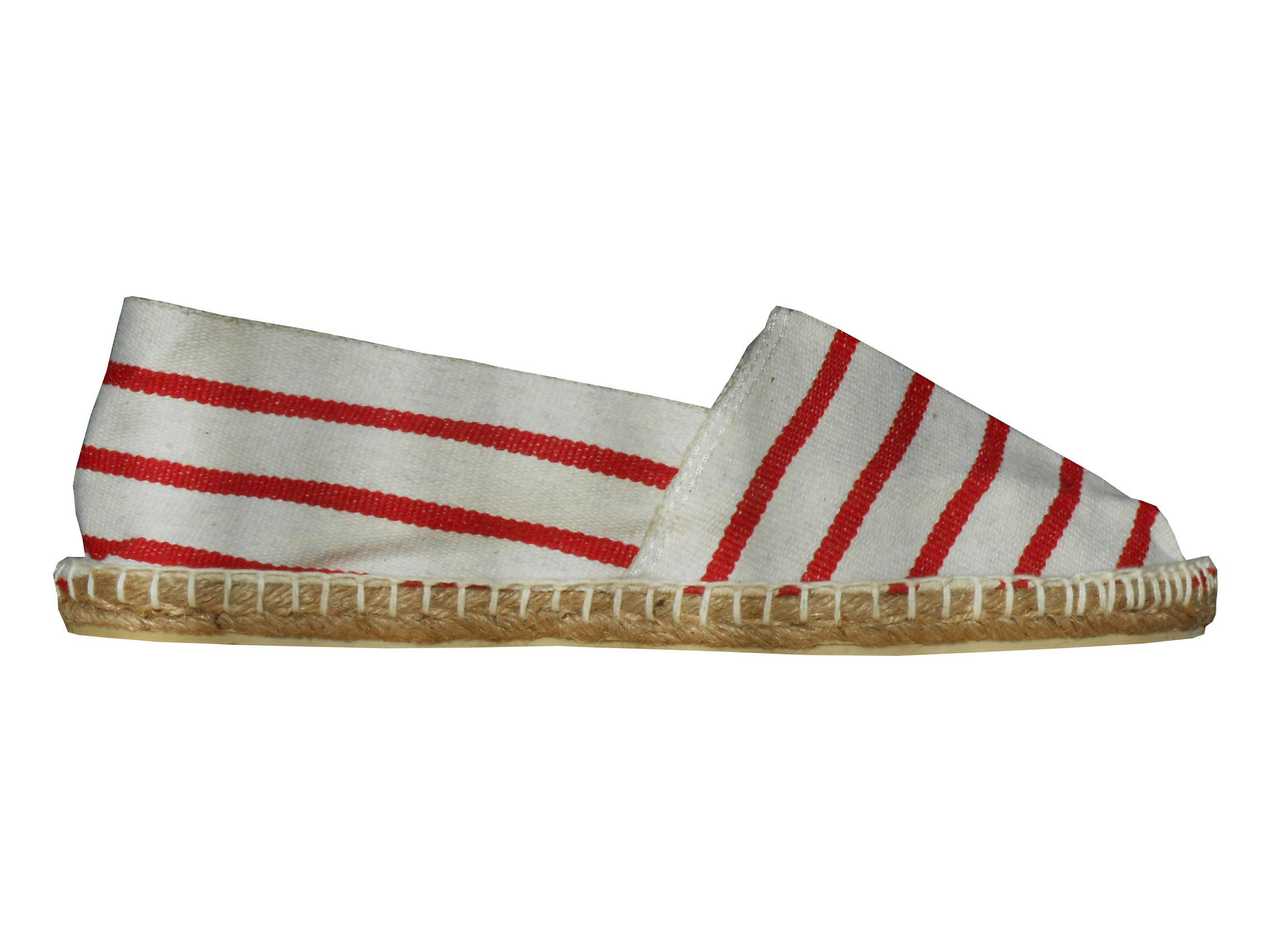 Espadrilles basques rouges et blanches