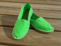 Espadrilles basques vert fluo