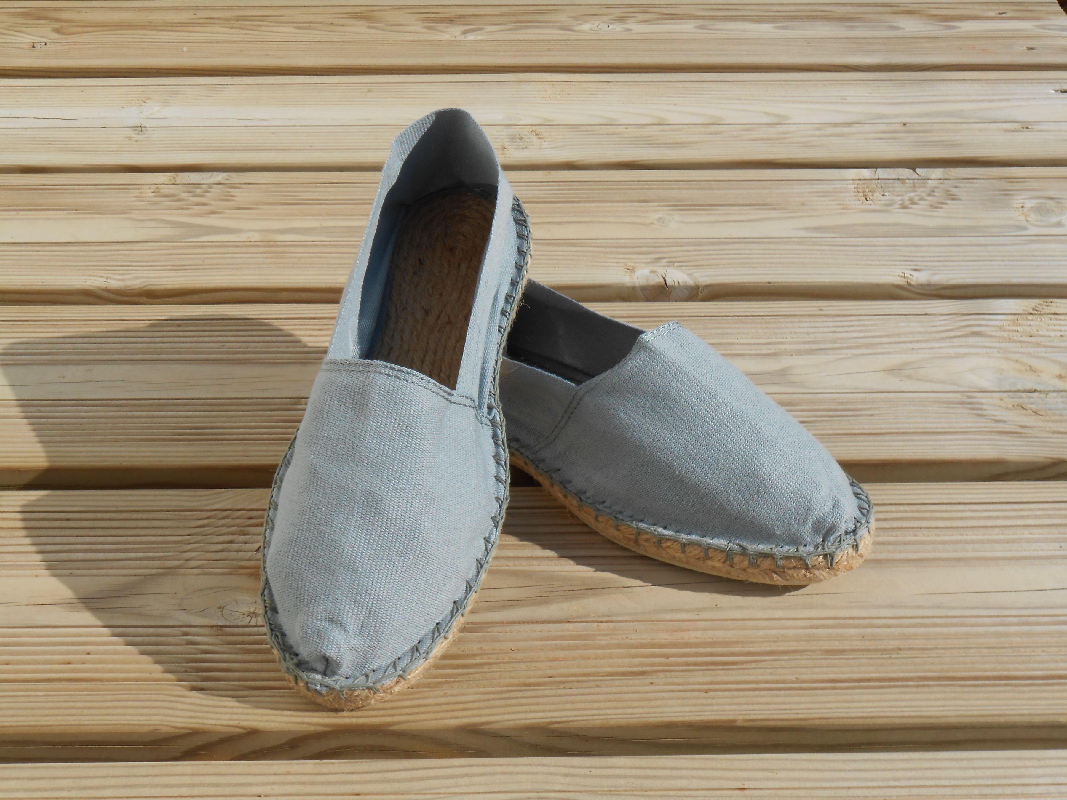 Espadrilles basques grises taille 46