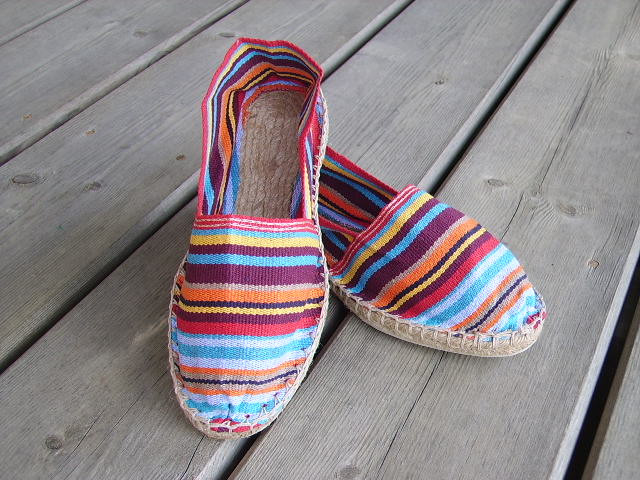 Espadrilles basques rayées Anglet taille 46