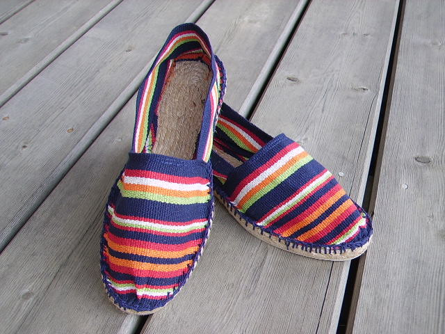 Espadrilles basques rayées Ustaritz taille 45