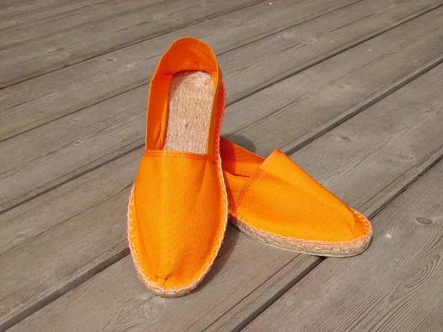 Espadrilles basques orange taille 47
