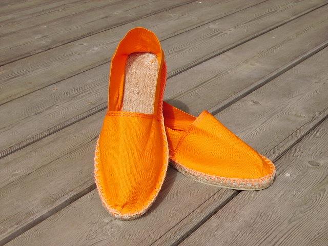 Espadrilles basques orange taille 38