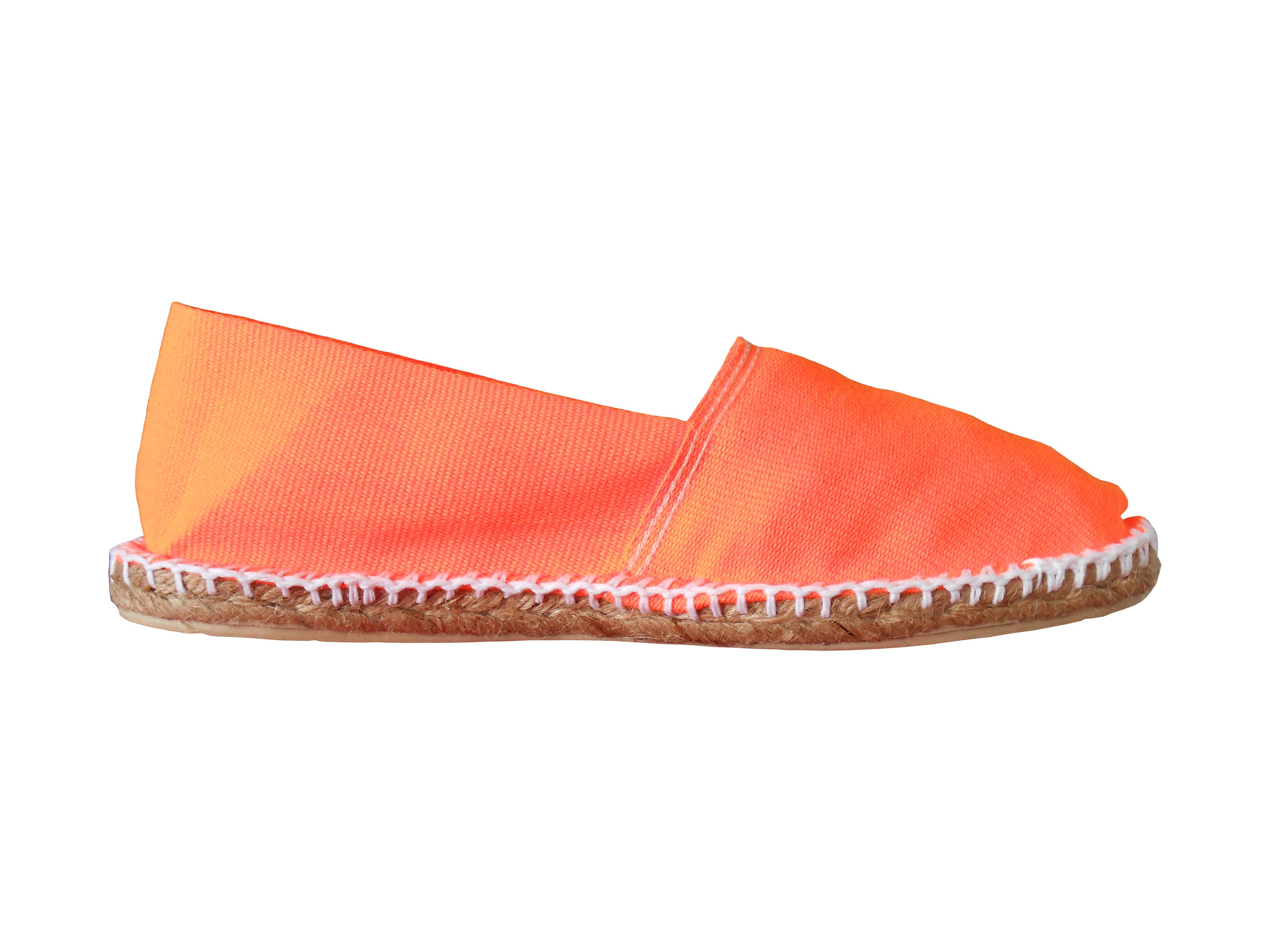 Espadrilles basques orange fluo
