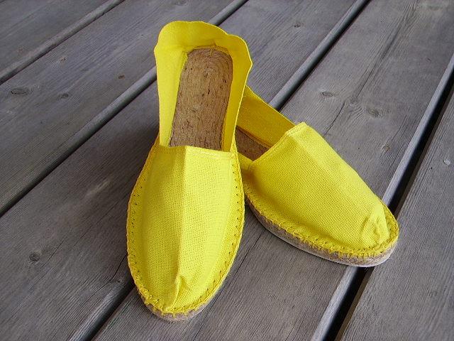 Espadrilles jaune citron taille 35