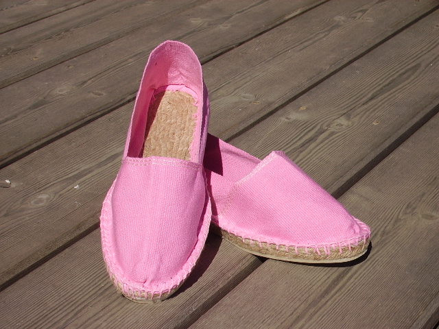 Espadrilles basques rose taille 44