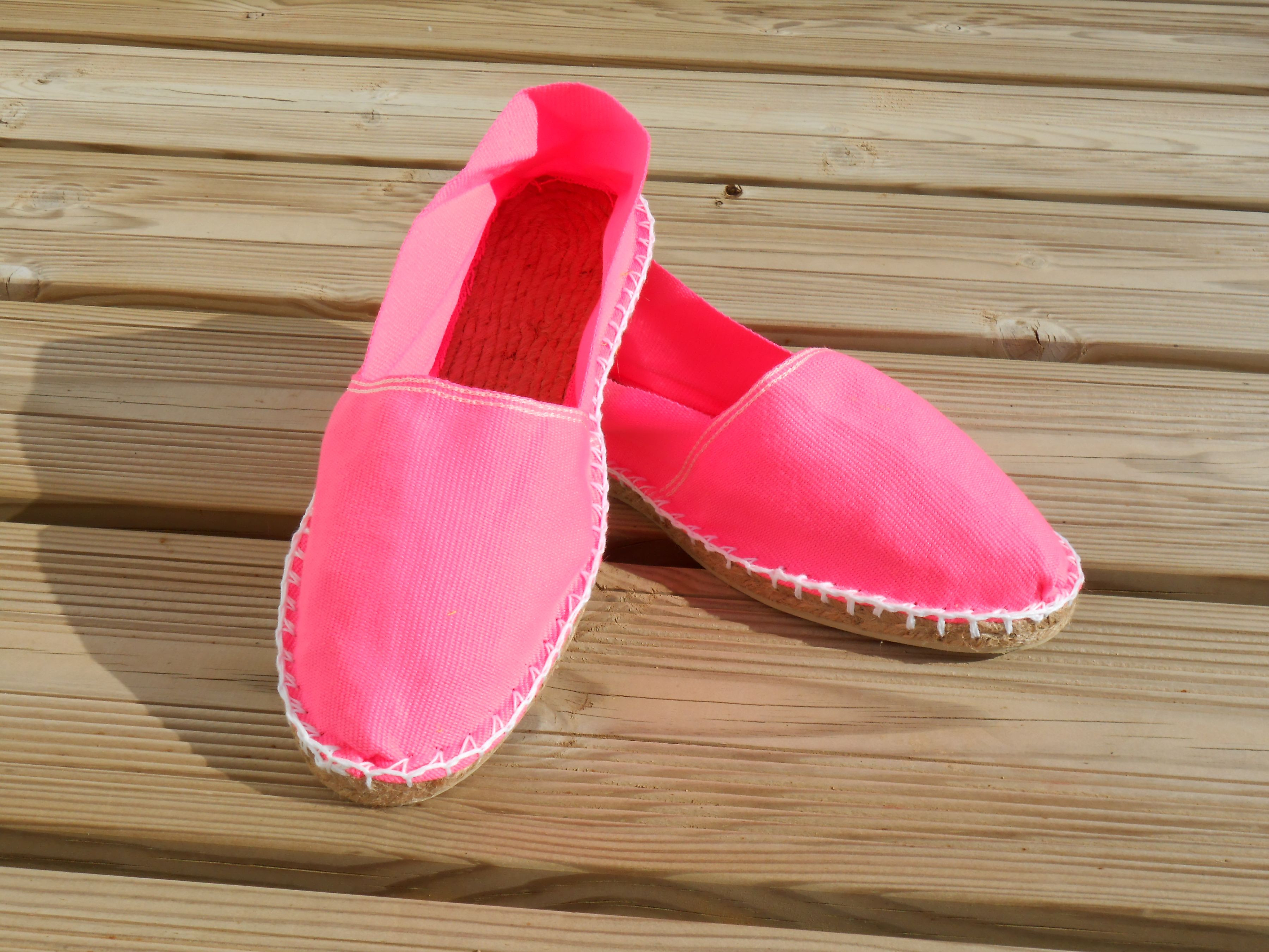 Espadrilles basques rose fluo taille 47