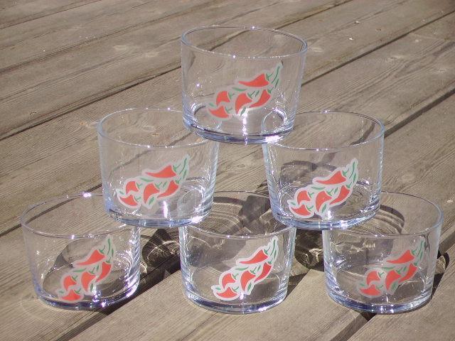 Six verres bodegas piment rouge