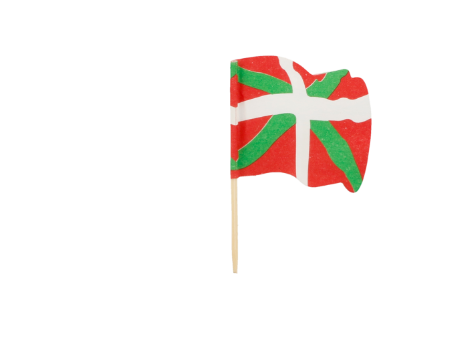 Un sachet de 25 piques drapeau basque