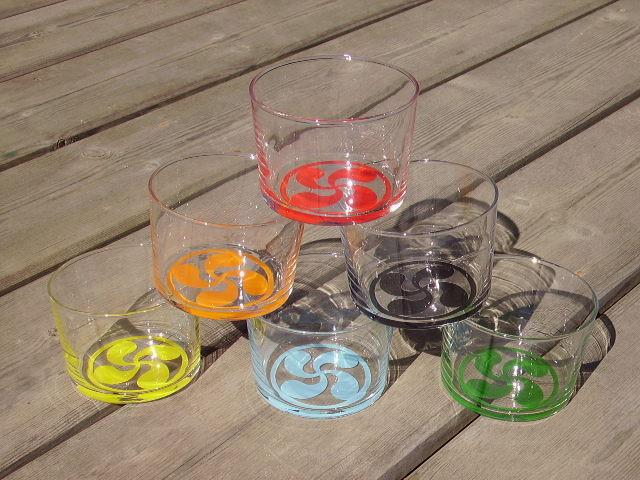 Ensemble de verres bodéga croix basque