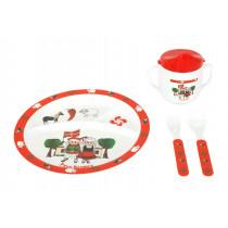 Ensemble vaisselle décor basque pour enfant