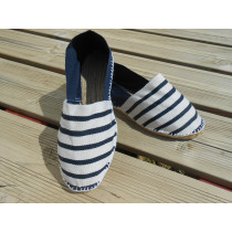 Espadrilles bicolores rayées marines Taille 35