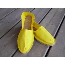 Espadrilles jaune citron taille 46