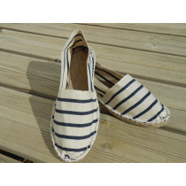 Espadrilles marines et blanches taille 44