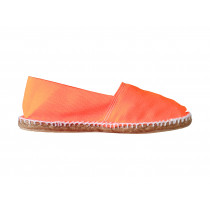 Espadrilles basques orange fluo