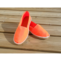 Espadrilles basques orange fluo taille 46