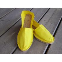 Espadrilles jaune citron taille 44