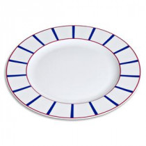 Plat rond basque en porcelaine
