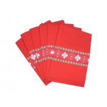 Six serviettes de table rouge