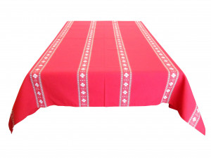 Nappe traditionnelle croix basque rouge